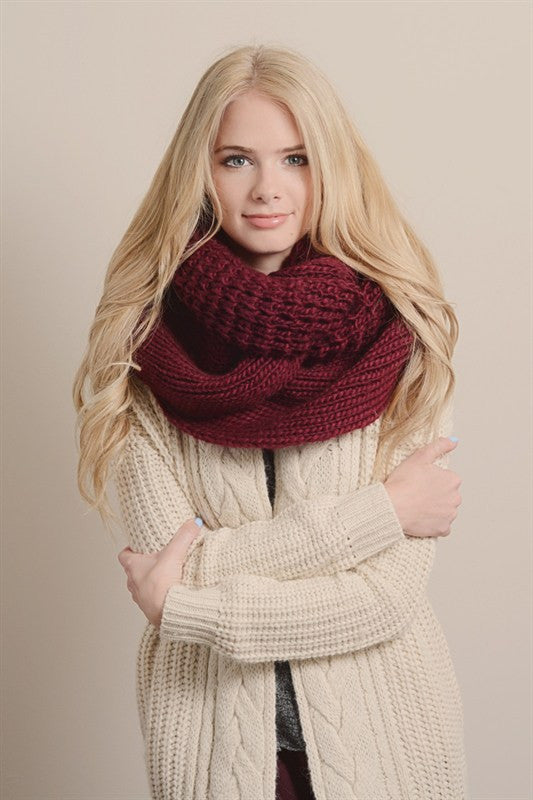 Ultimate Infinity Scarf - Burgundy, , Winter, scarf, new, Bayberry Co.