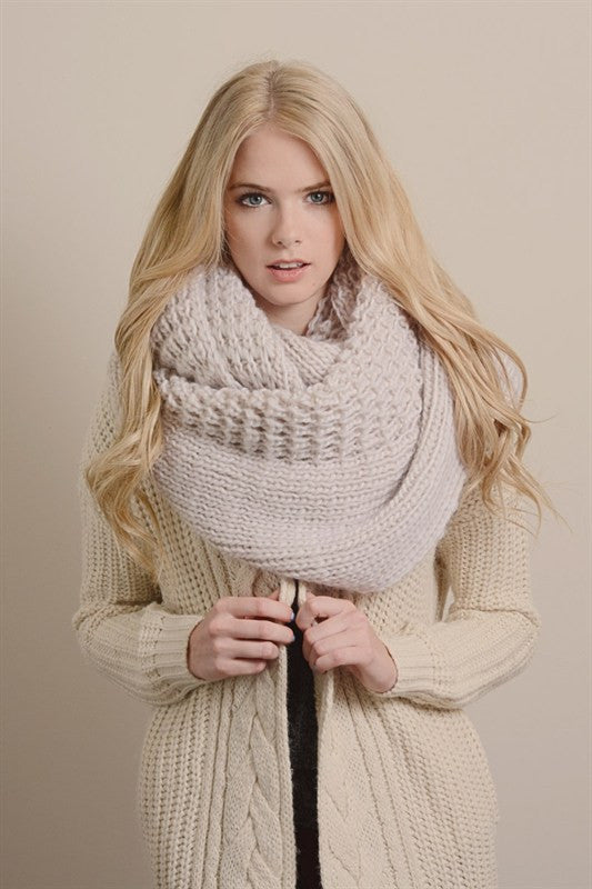 Ultimate Infinity Scarf - Ivory, , Winter, scarf, new, Bayberry Co.