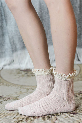 Crochet Ruffle Socks - Assorted Colors, , Winter, Socks, Hosiery, new, Bayberry Co. - 3