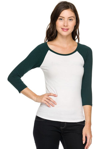 Scoop Neck Raglan Tee (4 Colors), , Tops, New, Bayberry Co. - 3