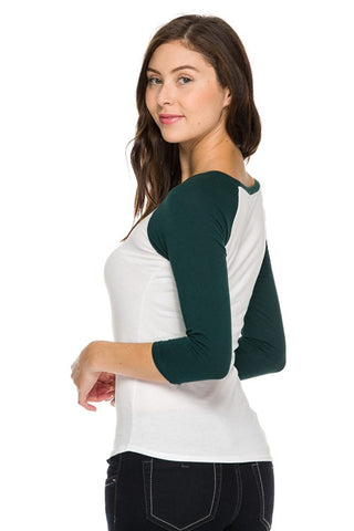 Scoop Neck Raglan Tee (4 Colors), , Tops, New, Bayberry Co. - 5