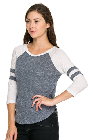 Mila Baseball Tee - Gray, , Tops, New, Bayberry Co. - 2