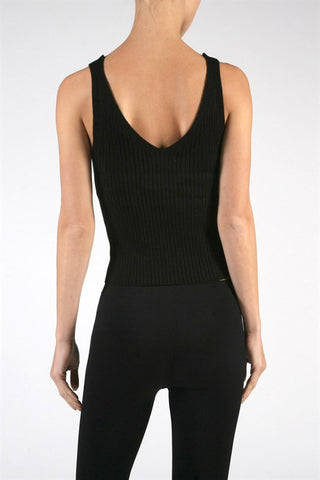 Ribbed Knit Crop Top - Black, , Tops, New, Bayberry Co. - 3