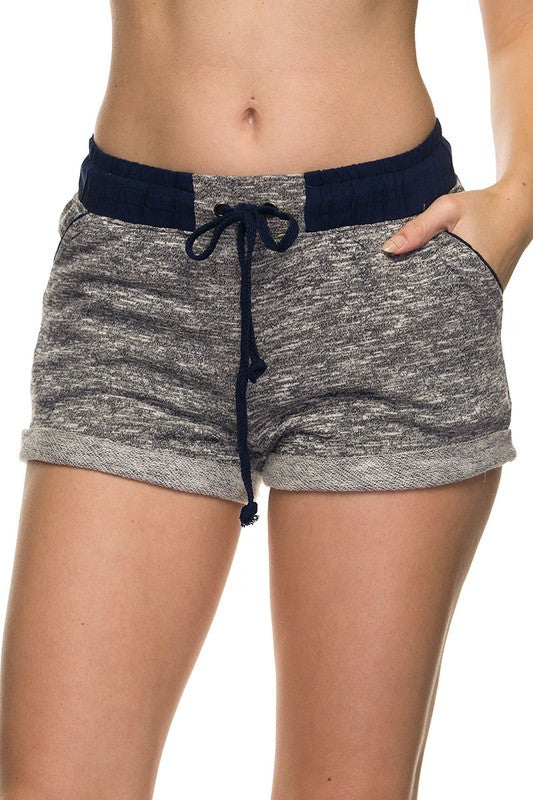 French Terry Jogger Shorts - Navy, , Bottoms, New, Bayberry Co. - 1