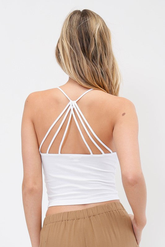 Strappy Back Cami - White, , Tops, New, Bayberry Co. - 1