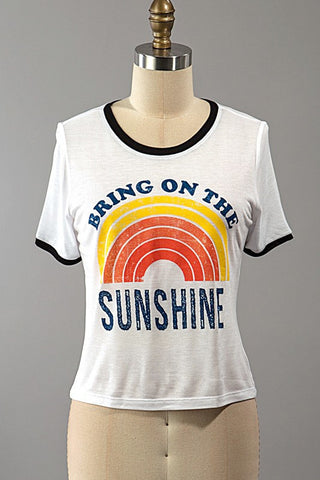 Bring On The Sunshine Tee, , Tops, New, Bayberry Co. - 1