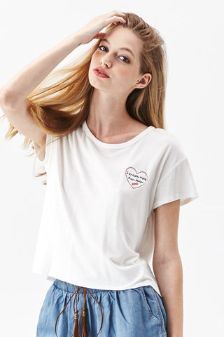 Love You More Than Bacon Top - White, , Tops, New, Bayberry Co. - 2