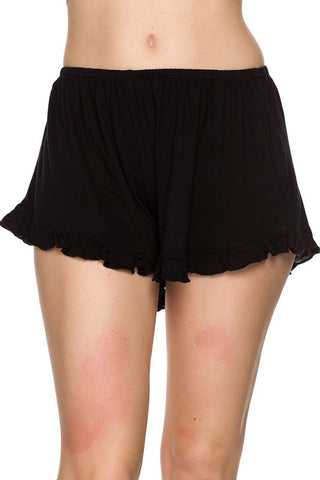 Basic Ruffle Shorts - Black, , New, Bottoms, Bayberry Co. - 1