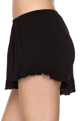Basic Ruffle Shorts - Black, , New, Bottoms, Bayberry Co. - 2