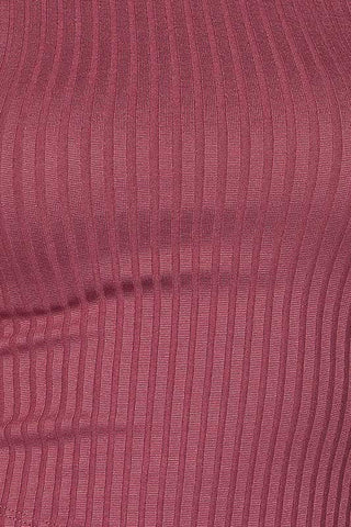 Mock Neck Crop Top - Mauve, , New, Tops, Bayberry Co. - 4