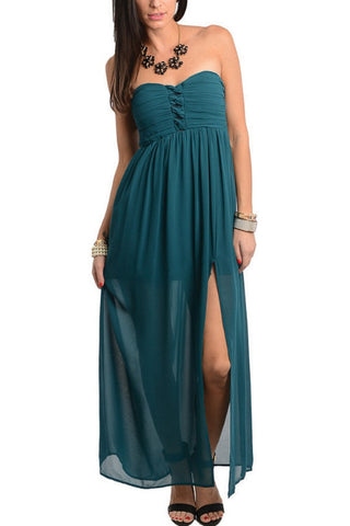 Be My Sweetheart Maxi Dress - Teal, , Dresses, New, Bayberry Co. - 1