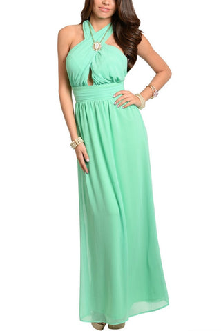 Head Over Heels Maxi Dress - Seafoam Green