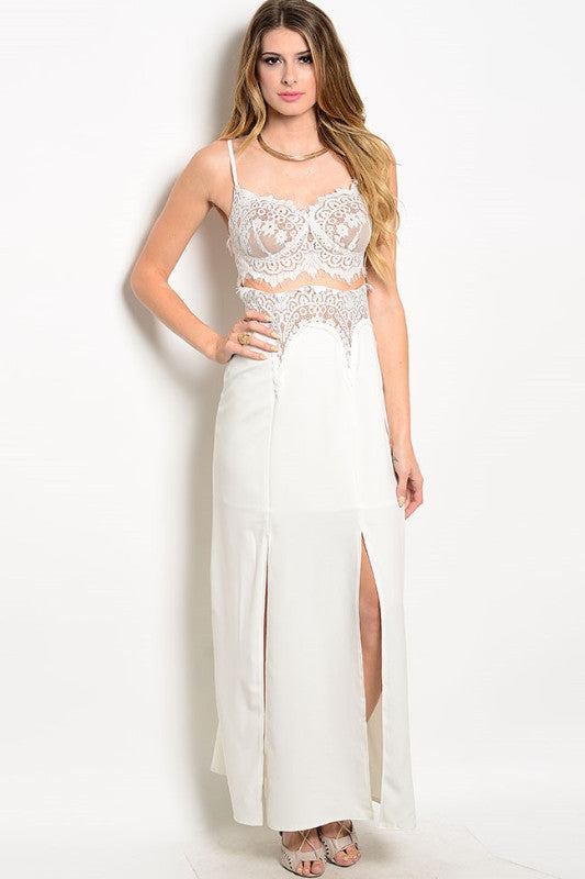 Harper Lace Maxi Dress, , Dresses, Bayberry Co. - 1