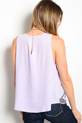 Serena Lilac Top, , Tops, New, Bayberry Co. - 2