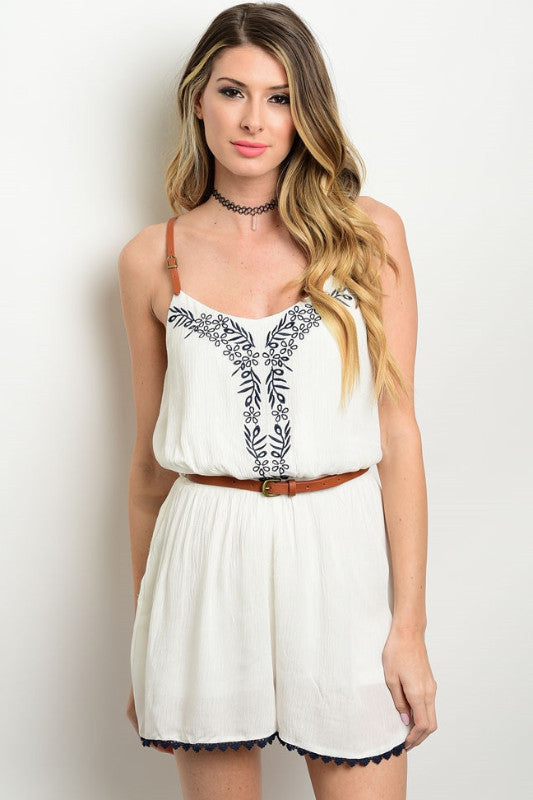 Camile Belted Romper, , Tops, Bottoms, New, Bayberry Co. - 1