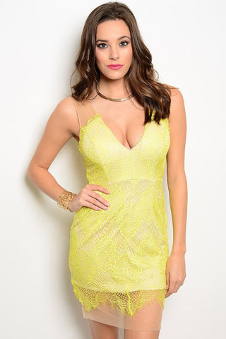 Aphrodite Dress - Lime Yellow, , Dresses, New, Bayberry Co. - 1