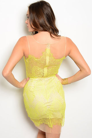 Aphrodite Dress - Lime Yellow, , Dresses, New, Bayberry Co. - 2