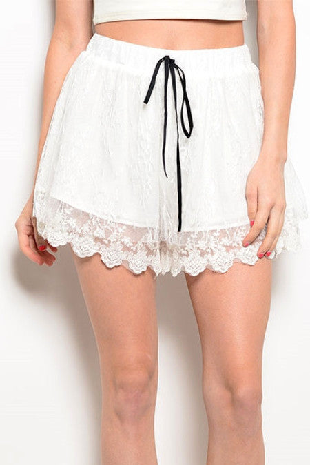 Emma Lace Shorts, , Bottoms, New, Bayberry Co. - 1