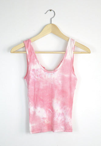 Tie Dye Lace Up Top - Candy Pink, , Tops, New, Bayberry Co. - 2