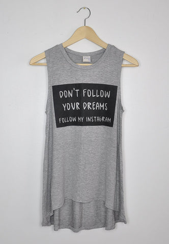 Don't Follow Your Dreams Tank, , Tops, New, Bayberry Co. - 1