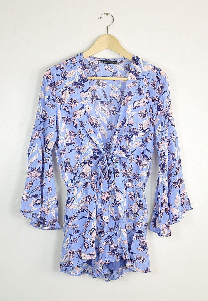 Falling Blossoms Romper, , Rompers, New, Bottoms, Bayberry Co. - 1