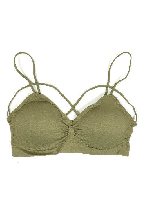Cross My Heart Bralette - Olive, , Intimates, Essentials, new, Bayberry Co.