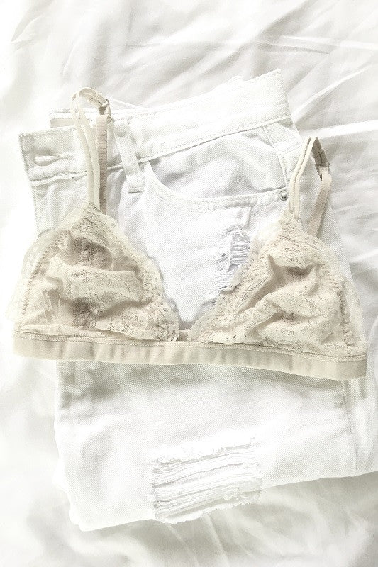 Perfect Scalloped Bralette - Off White, , Intimates, Essentials, new, Bayberry Co. - 1