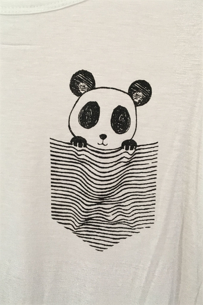 Pocket Panda Tee, , Tops, New, Bayberry Co. - 1