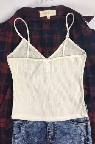 Coffee Cup Cami, , Tops, New, Bayberry Co. - 3