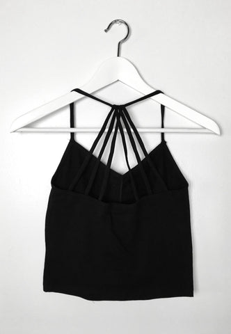 Strappy Back Cami - Black, , Tops, New, Bayberry Co. - 1