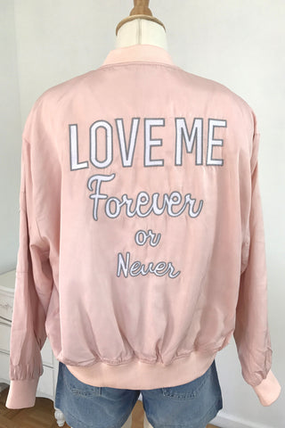 Love Me Forever or Never Bomber Jacket, , Outerwear, New, Bayberry Co. - 4