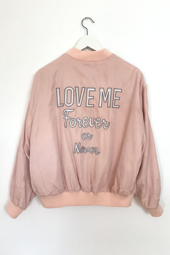 Love Me Forever or Never Bomber Jacket, , Outerwear, New, Bayberry Co. - 1