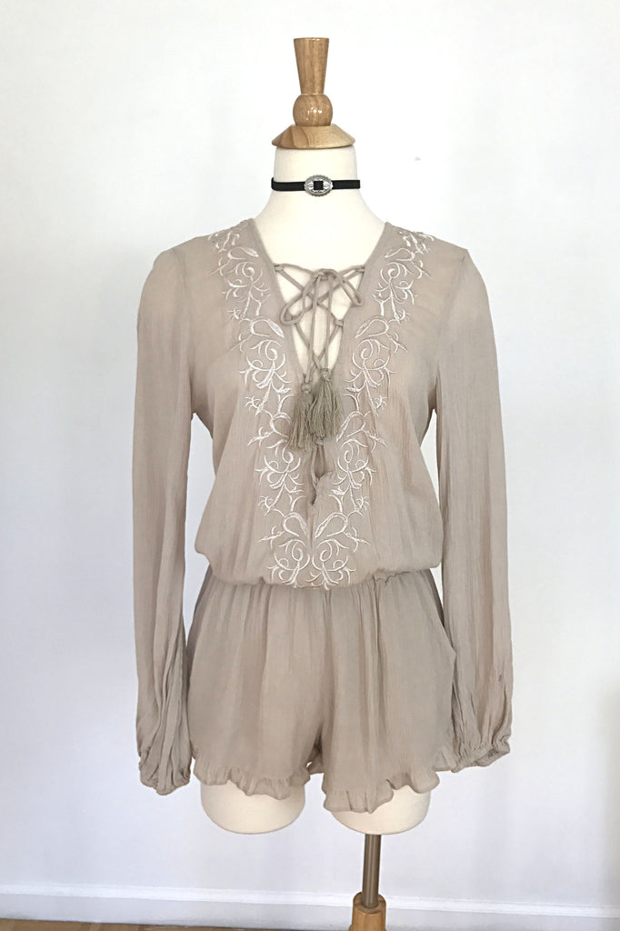 Desert Sand Romper, , Rompers, New, Bottoms, Tops, Bayberry Co. - 1