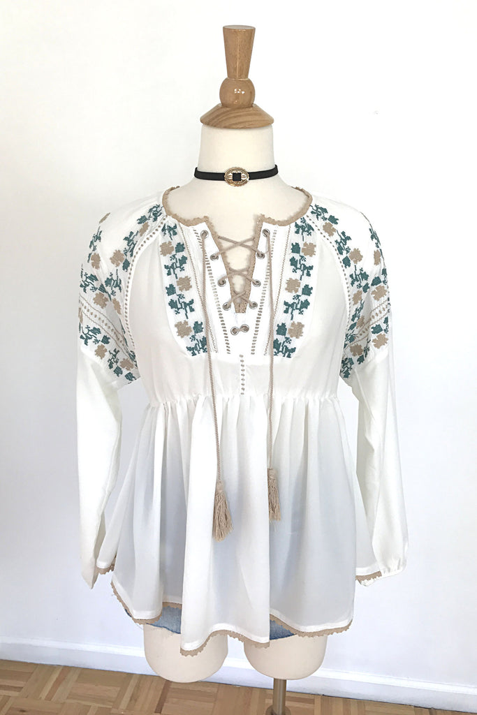 Boho Vibes Top, , Tops, New, Bayberry Co. - 1