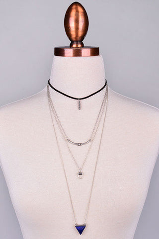 Multilayered Charm Choker Necklace