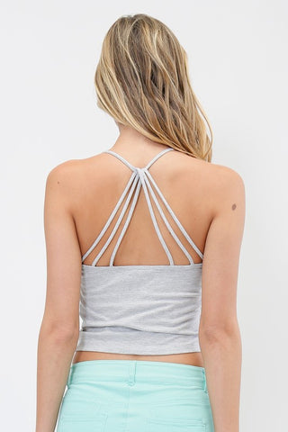Strappy Back Cami - Gray, , Tops, New, Bayberry Co. - 1