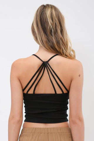 Strappy Back Cami - Black, , Tops, New, Bayberry Co. - 3