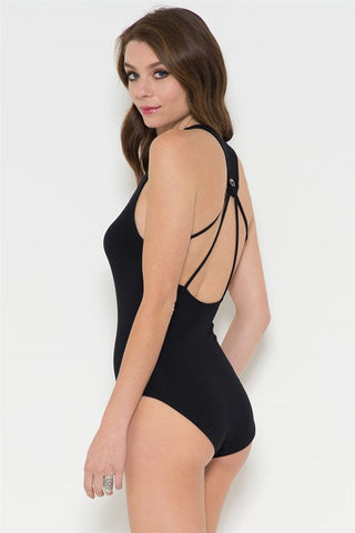 Strappy Back Bodysuit - Black, , Rompers, New, Bottoms, Tops, Bayberry Co. - 1