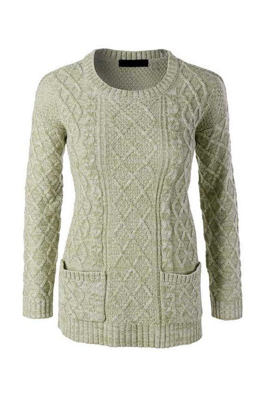 By The Fireside Sweater - Jade, , Tops, Sweaters, New, Bayberry Co. - 1