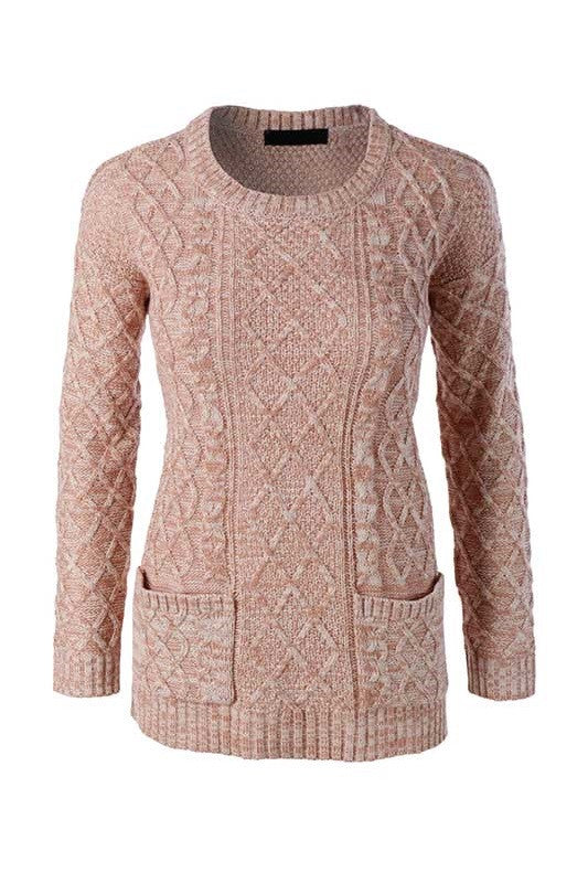 By The Fireside Sweater - Rose, , Tops, Sweaters, New, Bayberry Co.