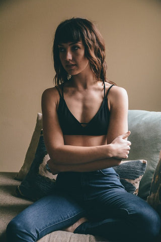 Penelope Strappy Bralette - Black, , Intimates, Essentials, new, Bayberry Co. - 2
