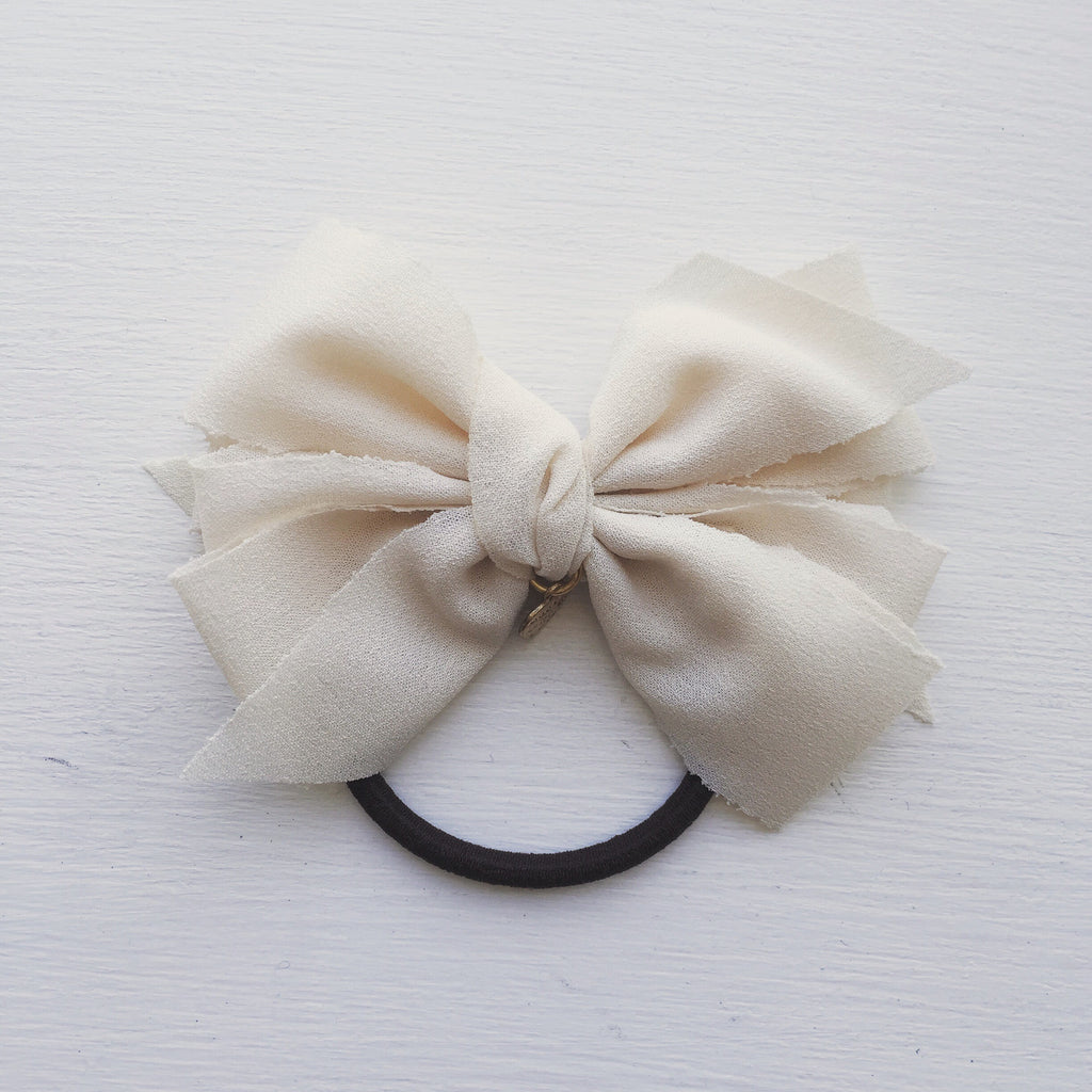 Handmade Bow Hair Tie, , sale, jewelry, Bayberry Co. - 1