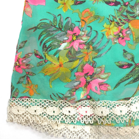 Watercolor Floral Shorts, , sale, Bayberry Co. - 2
