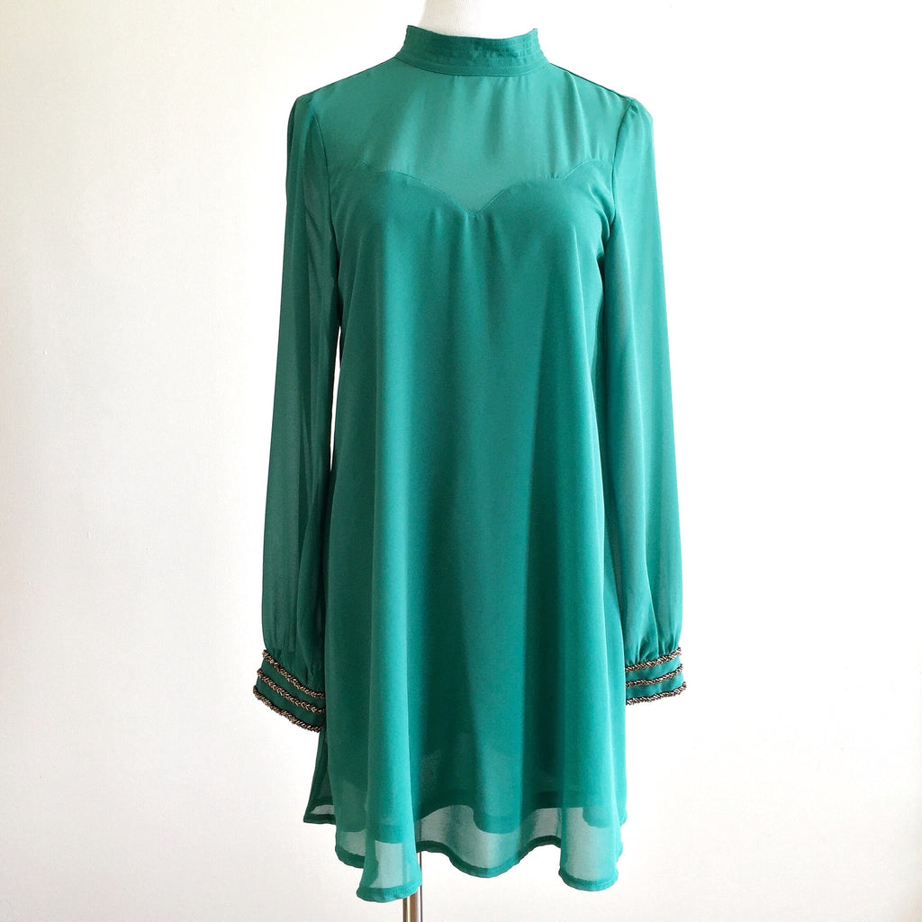Sabra Embellished Dress - Green, , sale, Bayberry Co. - 1