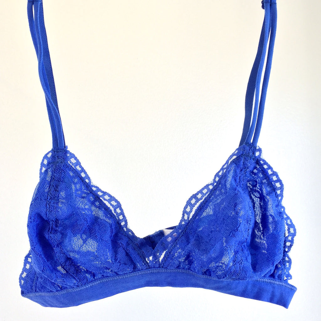 Perfect Scalloped Bralette - Blue, , Intimates, Sale, Bayberry Co. - 1