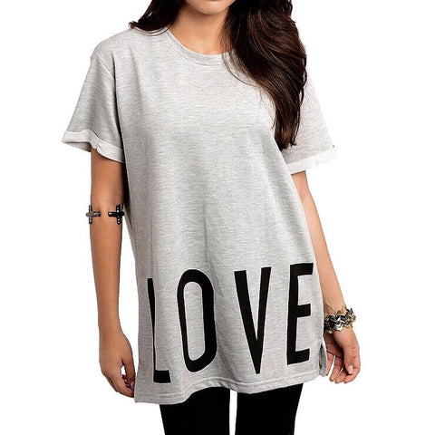 Love Hate Oversized Tee, , sale, Bayberry Co. - 4
