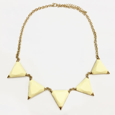 Hailee Triangle Necklace - Yellow, , sale, jewelry, Bayberry Co. - 2