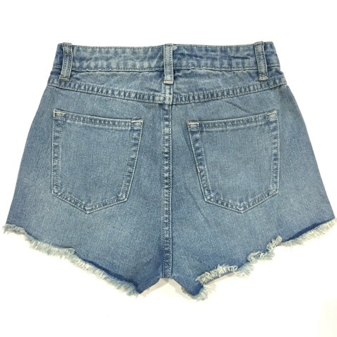 Kenzie High Waisted Studded Shorts - Light Wash, , Sale, Bayberry Co. - 2