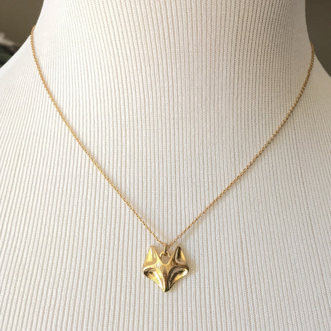 Gold Fox Necklace, , sale, jewelry, Bayberry Co. - 1