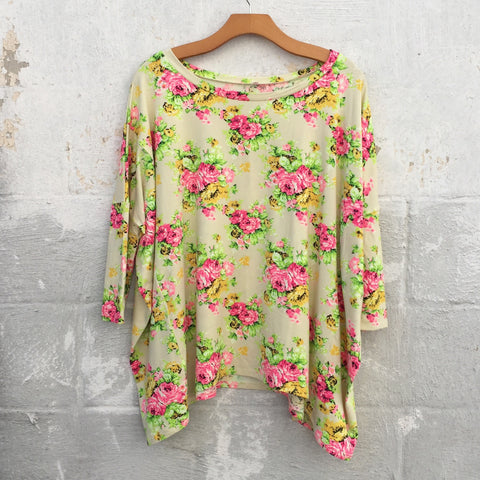 Calista Floral Top, , sale, Bayberry Co. - 1